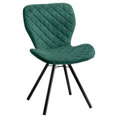Comfortabele groene stoel met zwart metalen onderstel. 53x56x83 cm (lxbxh). #vlinderstoel #kwantumstijl Outdoor Chairs, Outdoor Furniture, Outdoor Decor, Mixed Dining Chairs, Leather Recliner Chair, Leather Chairs, Game Room, Lucca, Mid-century Modern