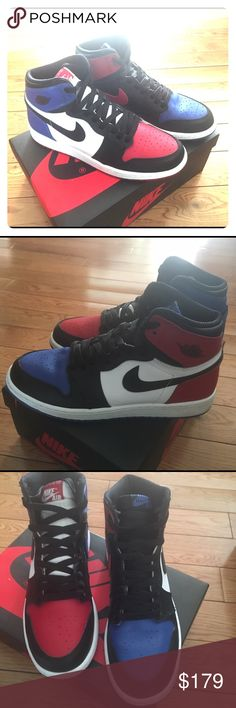 "Air Jordan 1 Top 3 7y = 8.5 wmns These are a twice worn pair of Air Jordan 1 ""Top 3"". These are a GS 7Y which fits a WMNS 8.5.                                      - No swaps or trades.                                                             - No bargaining. Nike Shoes Sneakers"