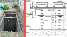 fosa septica din beton Village House Design, Duplex House Design, Small House Design, Diy Septic System, Septic Tank Systems, Septic Tank Design, Outdoor Toilet, Garage Door Styles, Civil Construction
