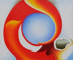 Georgia O'Keeffe - Goat's Horn with Red