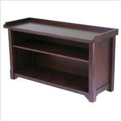 Amazon.com: Winsome Milan Storage Bench in Antique Walnut: Furniture & Decor $116
