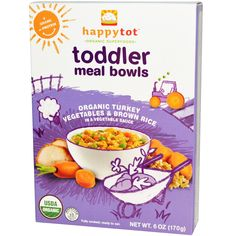 Nurture Inc. (Happy Baby), Happytot, Toddler Meal Bowls, Organic Turkey Vegetables & Brown Rice, 6 oz (170 g) - iHerb.com