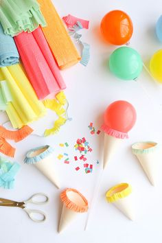 Speak if it is not the cutest thing today& tutorial ? Who will do Ice Cream Party, will be enchanted with this suggestion. Let& learn how to make this . Mini Ice Cream Cones, Ice Cream Theme, Diy Ice Cream, Ice Cream Party, Glace Diy, Diy Birthday, Birthday Parties, Ice Cream Balloons, Ice Cream Social