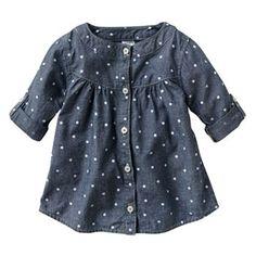 Carter's Chambray Dot Woven Tunic - Baby - Kohls