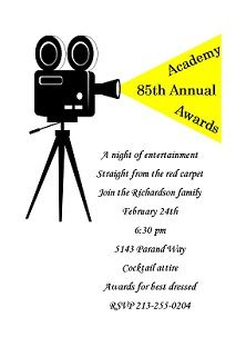 49 best oscar academy awards party invitations images on pinterest