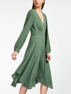 4b1b984b Max Mara RIVA green: Light cady dress. Elegant Dresses For Women, Pretty  Dresses