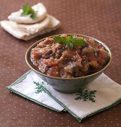 Zahlouk d'aubergines et tomates - Recettes de cuisine Ôdélices