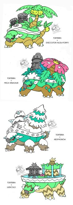 Torterra's Alola forms/Crossbreed by Darksilvania on DeviantArt
