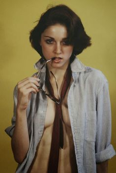 Madonna as an art model in 1977 by Herman Kulkens