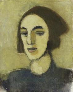 Helene Schjerfbeck (Finish 1862–1946) [Realism, Impressionism, Expressionism, Romanticism] Girl from Loviisa, 1941.