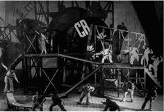 Vsevolod Meyerhold (1874-1940) – Décor pour Le Cocu imaginaire de Fernand Crommeyinck, mise en scène de Meyerhold au Théâtre de l'Acteur (Moscou) (1922)