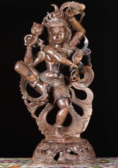"""View the Powerful Marble Shiva Sculpture 28"""""""