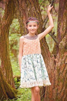 Sweetheart dress in Art Gallery Fabrics Indie Boheme fabrics