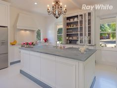 The kitchen at Glen Avon - french provincial with zinc and carrera marble benchtops