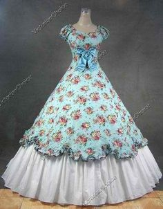 This Civil War Era dress reminds me of Giselle's blue dress.