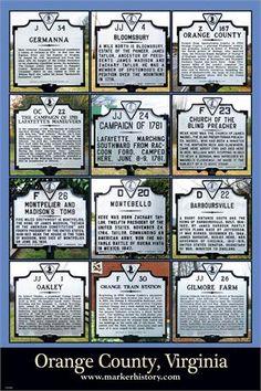 Orange County, Virginia  Historical Markers