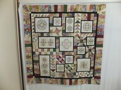 Karen made this quilt top using our 12th Anniversary Quilt Designs.  She used a fabric  jelly roll called Serene Garden by RJR.   It has an oriental look to it and shows how different designs can look in different colors. Beautiful Karen!