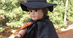 Get your doll ready for Halloween with an easy peezy witch costume.        Halloween Witch Dress      Supply List  1/3 yard of knit fabric ...