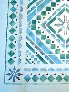 Mediterranean Stencils Mediterranean Border & Corner Stencil Interior Design