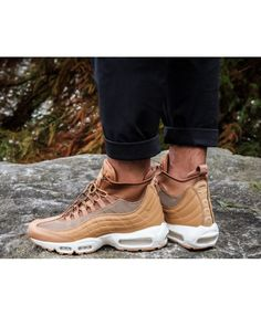 Nike Air Max 95 Sneakerboot Flax Ale Brown Sail Trainer Nike Air Max For Women, Nike Women, Nike Air Max Trainers, Air Max 95, Cole Haan, Ale, Oxford Shoes, Dress Shoes, Houses
