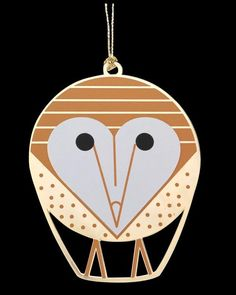 RACCOON Charles//Charley Harper Glass Christmas Ornament fun animal art