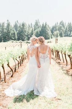 Pink Boho LGBTQ Winery Wedding Inspiration – Sierra Rose Photography 31  Blush pink details, braided hairstyles