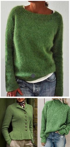 Funky Outfits, Chic Outfits, Diy Fashion, Fashion Outfits, Plus Fashion, Casual Sweaters, Sweaters For Women, Mode Style, Knit Patterns