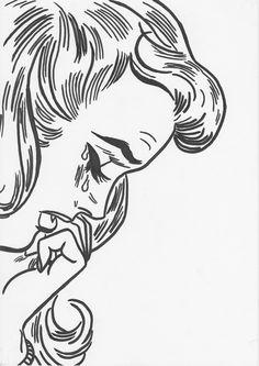 black marker on paper by Julia Arnoldi #popart #art #blackandwhite #b&w…