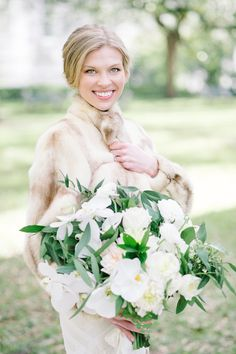 "The bride wore her grandmothers vintage mink coat.The perfect accessory to wear for ""something borrowed"".  Coordination 