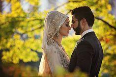 Fall bride. Happy couple! Nida Rehman photography.