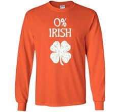 Short-Sleeve Unisex St. Patrick's Day T-Shirt with 0% Irish Screenprint