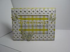 This card is made by Sharon Frees.  Spellbinder die & MB die & Birthday die I can;t remember.