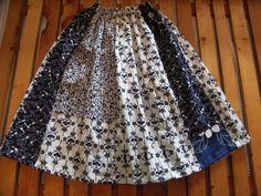 着物リメイク ゆかた ロングギャザースカート 1                                                                                                                                                                                 もっと見る