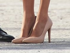 Magrit blush pink leather pumps. Debuted Feb 2017