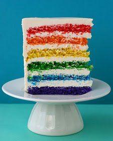 Jordbærkagen: Rainbow- cake by Martha Stewart