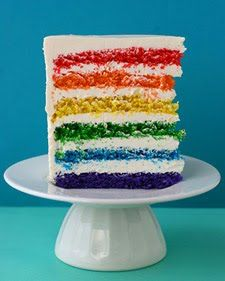 ♥ Rainbow White Color Design Art Food Pretty Beautiful Colorful Fashion ♥