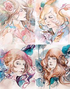 """Ilustrações com """"cheirinho de papel de carta perfumado"""""""