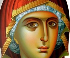 Byzantine icon of the Virgin Mary Religious Icons, Religious Gifts, Religious Art, Virgin Mary Painting, Virgin Mary Art, Blessed Mother Mary, Blessed Virgin Mary, Mother Painting, Mother Art