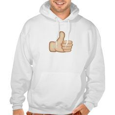Thumbs Up Sign Emoji Hooded Pullovers