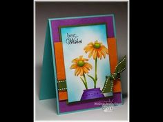 Stately Flowers 9 video, card and stamp set by Melanie Muenchinger for Gina K. Designs. Hands, Head and Heart