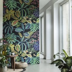 60 Best Ideas Of Tropical Wall Mural For Summer. Popular tropical wall murals create the illusion of paradise in your home. They can bring sunshine and warmth into a room with no windows or help stave. Tropical Wall Decor, Motif Tropical, Tropical Wallpaper, Wall Wallpaper, Wallpaper Jungle, Office Wallpaper, Botanical Wallpaper, Retro Wallpaper, Wallpaper Wallpapers