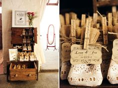 wedding favors in lace bag
