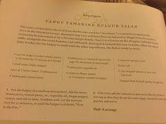 Tamarind bulgar salad