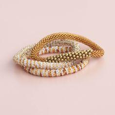 Nepal perle armbånd 10 - 3 sæt - LÉ MOSCH Nepal, Gold Rings, Bracelets, Creative, Diy, Jewelry, Fashion, Bead, Schmuck