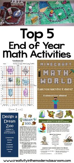 Need some ideas to keep students engaged when learning math at the end of the school year? Here's our top five picks for end of year math activities!
