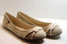Roxy Adin Ballet Flat Shoes, Natural White, Size 6 Medium #Roxy #BalletFlats http://stores.ebay.com/ECLECTIC-GOODIES-EG