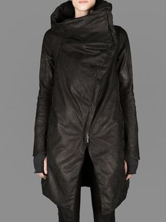 ISAAC SELLAM RECTANGULAR DOWN JACKET WITH HIGH COLLAR AND TWO POCKETS