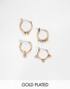 Luv+AJ+Gold+Pandura+Multi+Hoop+Earrings
