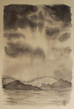 Serie de paisajes en Blanco y Negro - Nubes y montañas. Series of landscapes in Black and White - Clouds and mountains. HMZEN'14