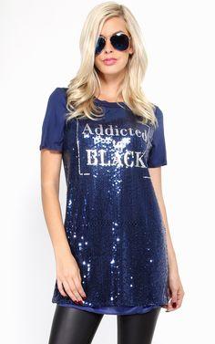 Addicted to black sequin top.  | MakeMeChic.com